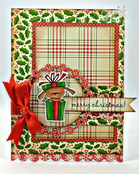 Jen roach - Stacey Christmas doggie card