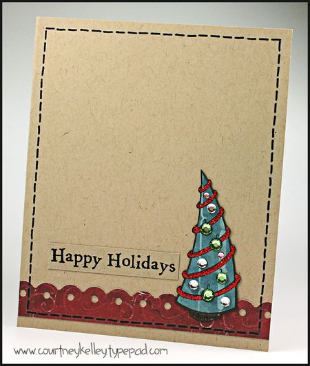 Courtney - Happy Holidays Retro Tree Card