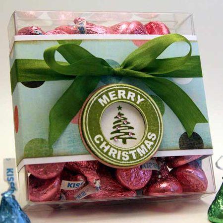 Jenn Biederman - Merry Christmas Logo Candy Box (as seen in Papercrafts - November 2010)