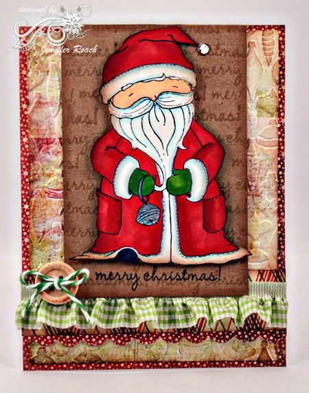 Jen Roach -Santa Card