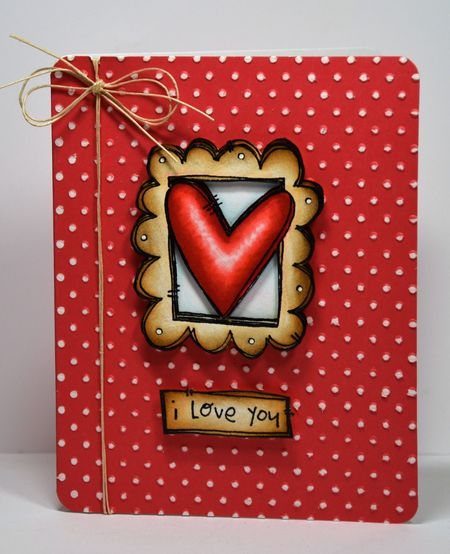 Kelly Booth - Doodle Frame Heart Card