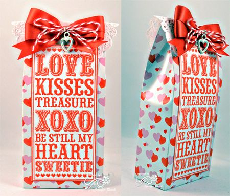 Jen Roach - Love noteblock valentines box