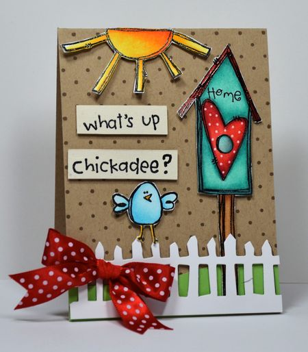 Kelly Booth - Birdhouse Card with ribbon