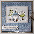 Simone Schwagler - Filbert & Snowy Tree Christmas Card