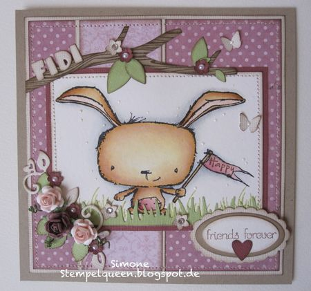Simone Schwagler - Poppy Friends Forever Card