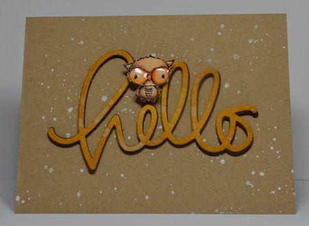 Kelly Booth - Shadow Hello Card