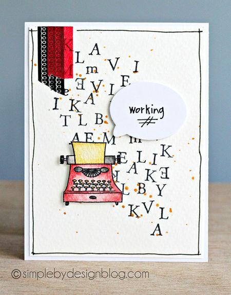 Joy Taylor - Typewriter Card