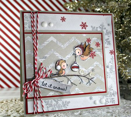 Linda McClain - Silver and Juniper Let It Snow Card