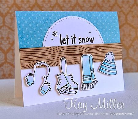 Kay Miller - Let it Snow Bundle Up Card