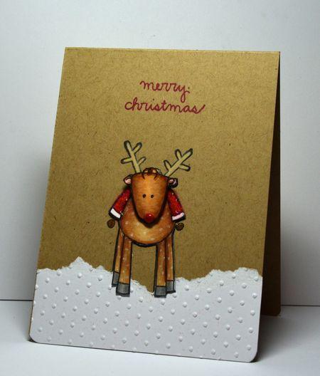 Kelly Booth - Merry Christmas Reindeer Card