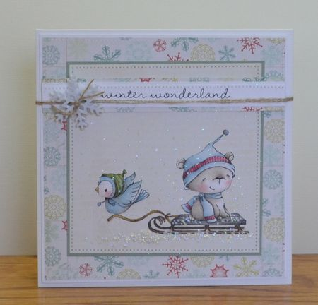 Paula Williamson - Juniper Icicle Sled Winter Wonderland Card