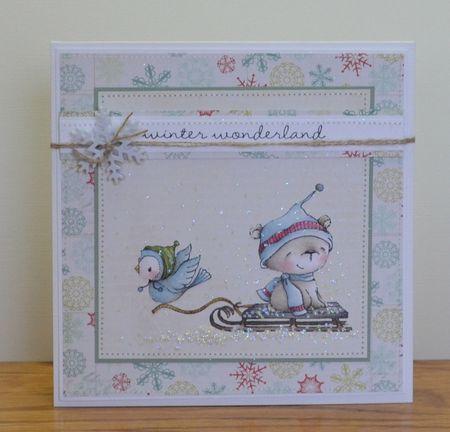 Paula Williamson - Juniper Icicle Sled Winter Wonderland Card