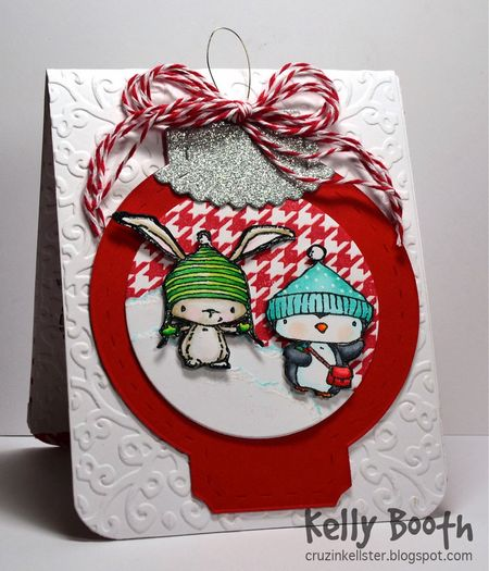 Kelly Booth - Birch and Filbert Ornament Card -front pop up