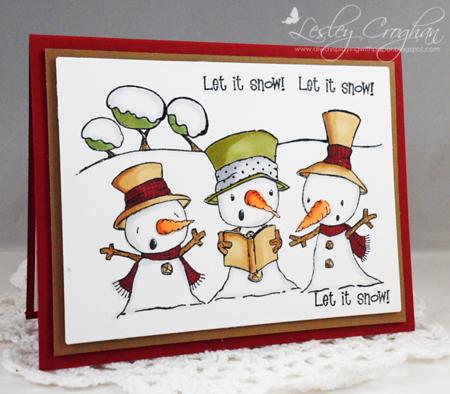 Lesley Croghan - Snowy Trio Card