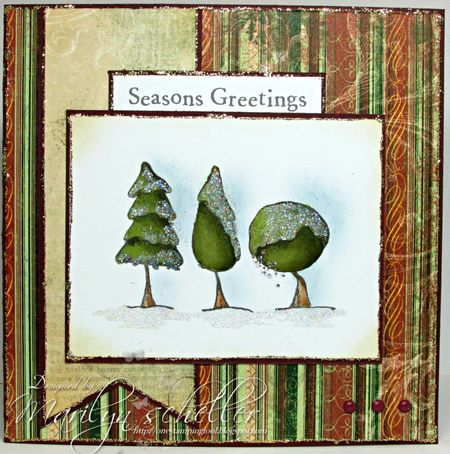 Marilyn Scheller - Snowy Trees Card