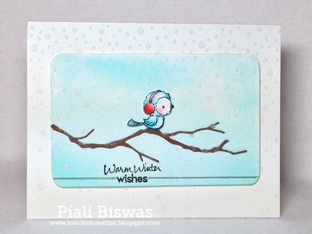 Piali Biswas - Silver Winter Wishes Card