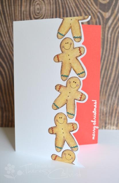 Therese Calvird - Gingerbread man card