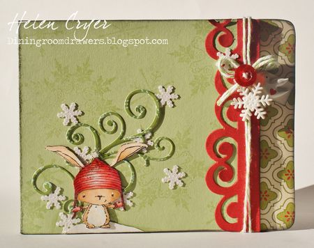Helen Cryer - Merry Christmas Tea Cup Birch Card - front