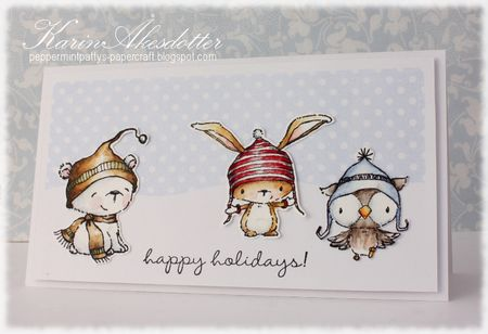 Karin Akesdotter - Happy Holidays Icicle Birch and Snowy Card