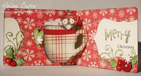 Helen Cryer - Merry Christmas Tea Cup Snowy Card