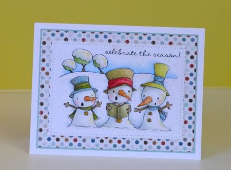 Paula Williamson - Snowy Trio Celebrate The Season Card (2)
