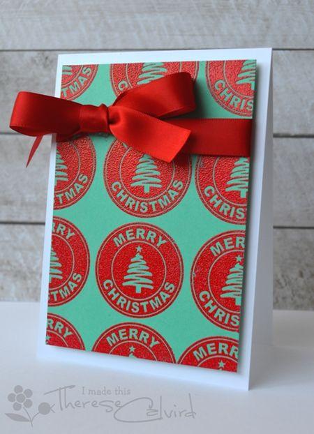 Therese Calvird - Merry Christmas Logo Card