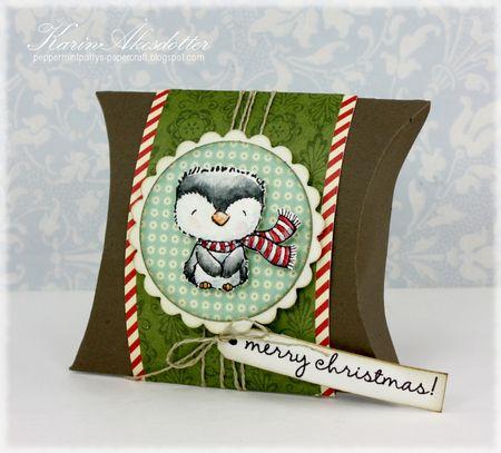 Karin Akesdotter - Frost Merry Christmas Pillow Box - side