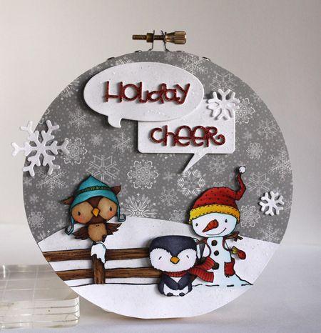 Alice Wertz - Holiday Cheer Hoop Wall Hanging