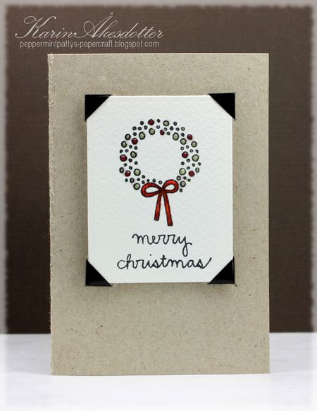 Karin Akesdotter - Merry Christmas Wreath Gift Card Holder - Front