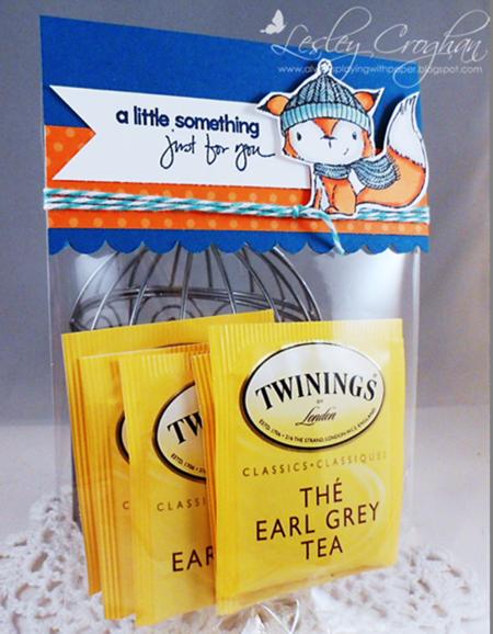 Lesley Croghan - Tea Bag Gift Baggie with Topper