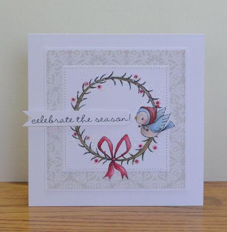 Paula Williamson - Wreath and Juniper Celebrate The Season Card