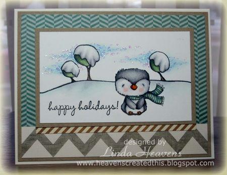 Linda Heavens - Frost Happy Holidays Card