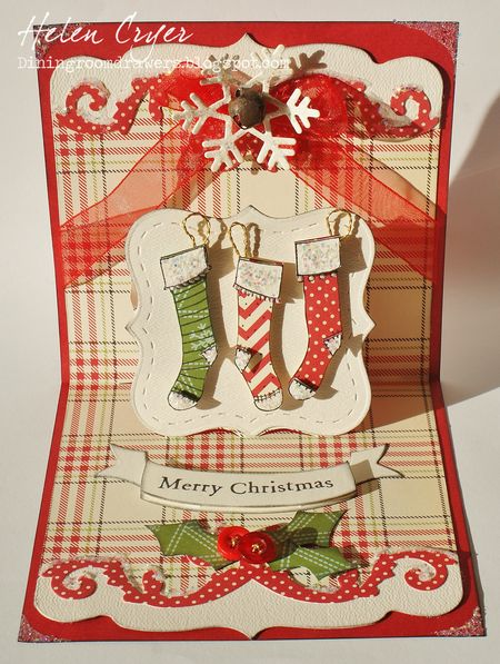 Helen Cryer - 3 Stocking Merry Christmas Card