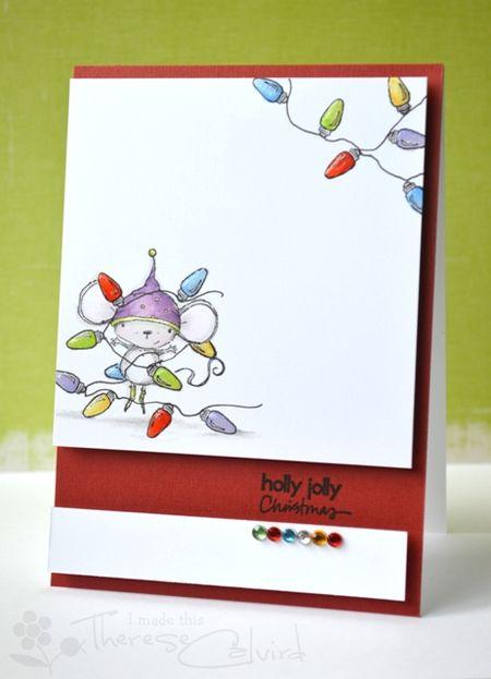 Therese Calvird - Holly Jolly Card