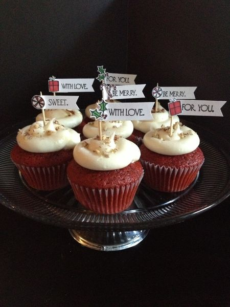 Lorraine Marasigan - HGK Merry Thoughts Cupcake Toppers