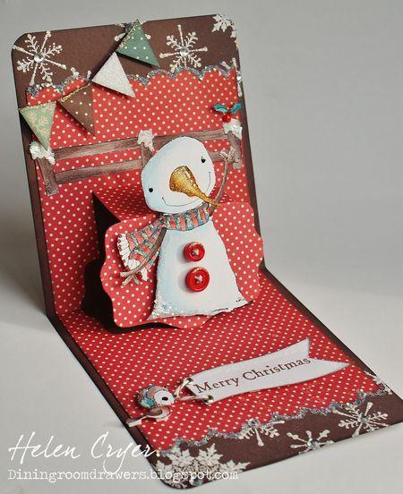 Helen Cryer - Berry Pop Up Card - side