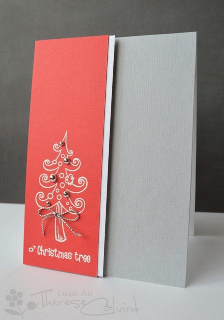 Therese Calvird - Swirly Christmas Tree Card