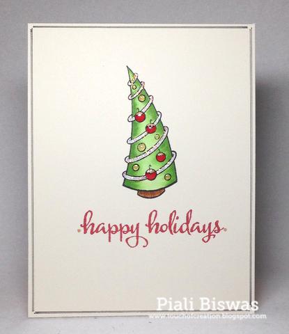 Piali Biswas - Retro Tree Card
