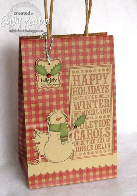 Emily Keaton - Snowman Gift Bag