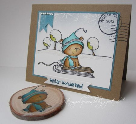 Simone Schwagler - Icicle Card and Wood Ornament