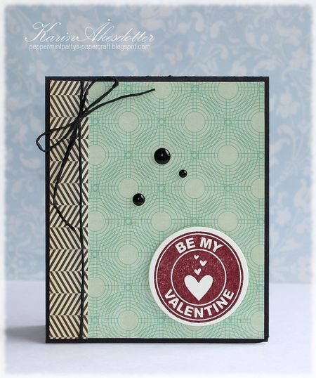 Karin Akesdotter - Be My Valentine Logo Card