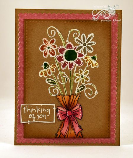 Jen Roach - Kraft Floral Thinking of you