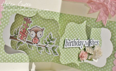 Helen Cryer - Shadow Birthday Card - closeup