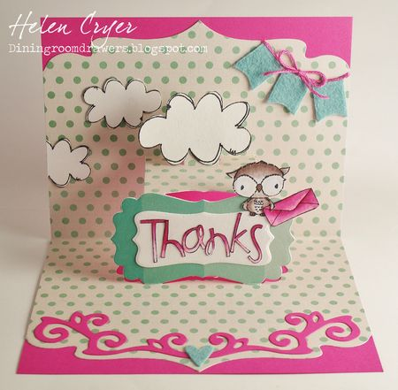 Helen Cryer - Thanks Shadow Card - inside