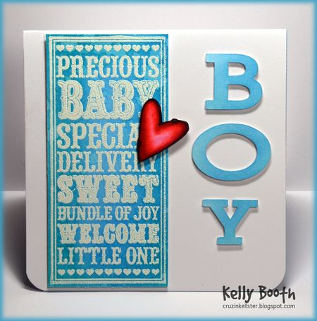 Kelly Booth - Baby Boy Noteblock Card - front