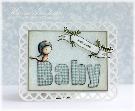 Karin Akesdotter - Peep and Banner Baby Card