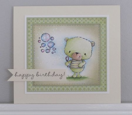 Paula Williamson - Jackson and Bubbles Birthday card
