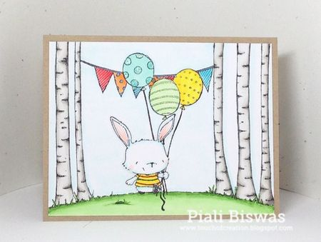 Piali Biswas - Willa Balloon Card