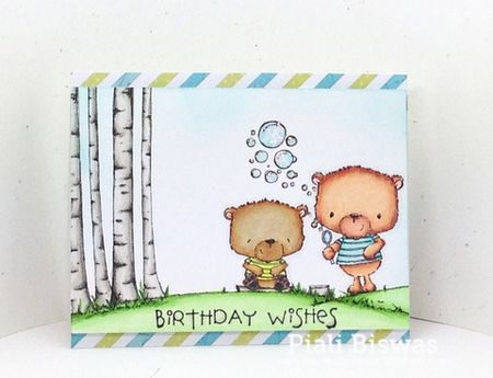 Piali Biswas - Johnny and Jackson Birthday Wishes Card