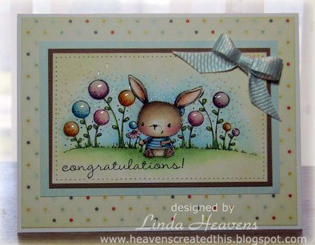 Linda Heavens - Chloe Congratualtions Card
